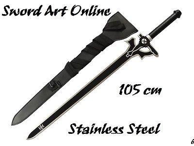 Sword Art Online weapon SAO Kirito Elucidator Replica Steel Cosplay