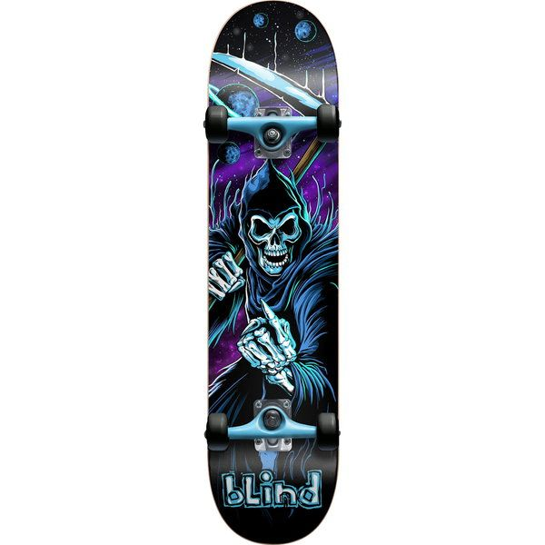Zero skateboards cosmic reaper black blue purple complete skateboard new at warehouse skateboards