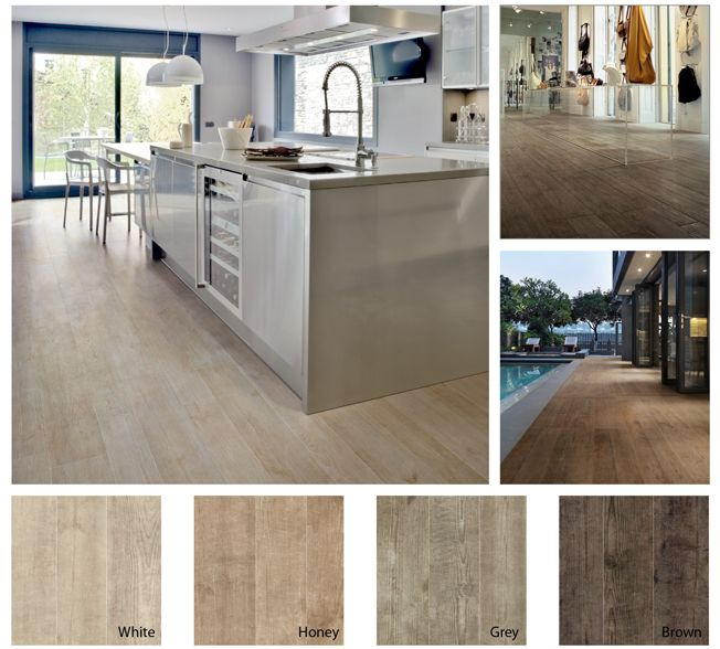 Went to a flooring store today. I think I'm sold on this flooring for our remodel! There are so many color choices with so much character! Great looking tile!...................... .................. Walker Zanger's Nature Collection. Porcelain tile that looks just like wood.