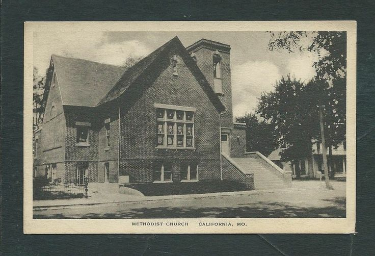 California, MD:  Methodist Church 1926 St. Mary's County MD Postcard