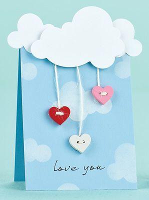 hanging heart buttons