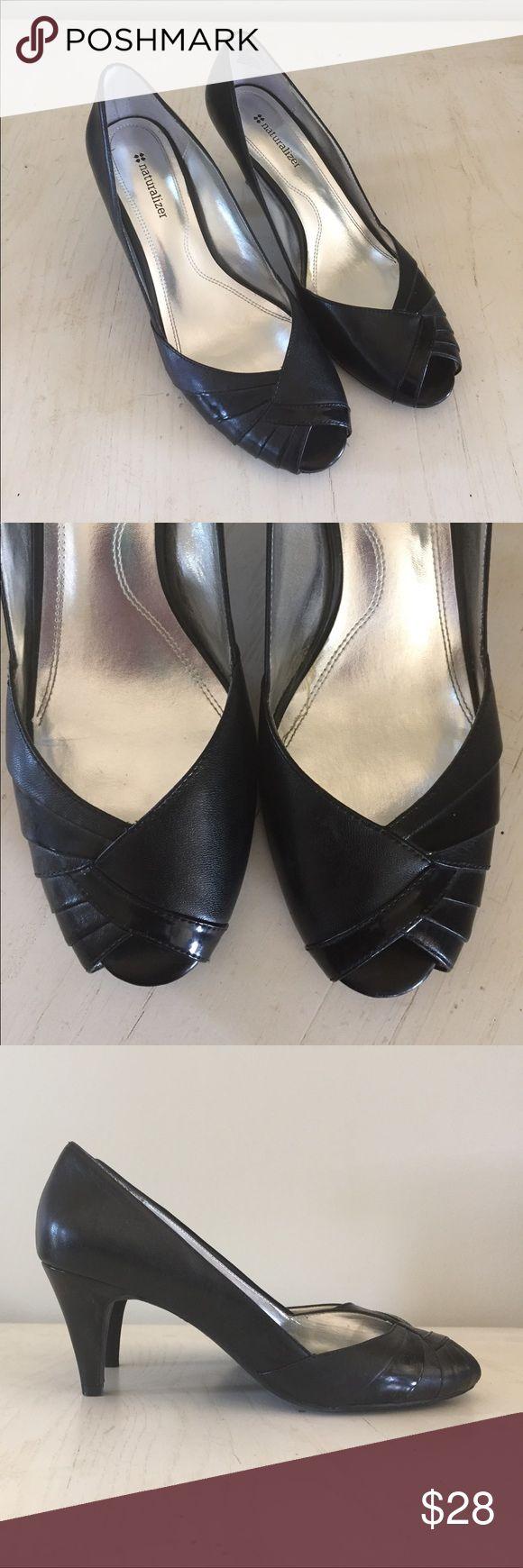 Black peep toe heels Black peep toe heels. Naturalizer Shoes Heels