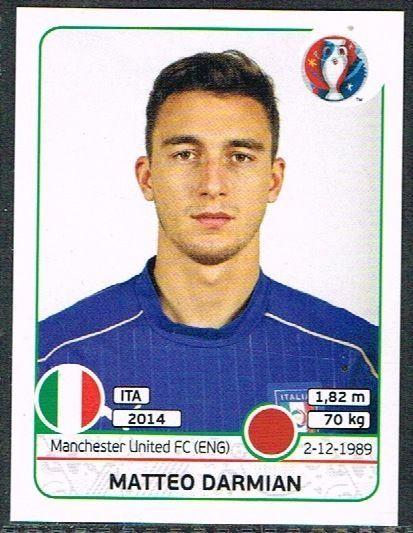 UEFA EURO 2016 Matteo Darmian  Italy - 501 #Panini #stickers #Italy #Darmian