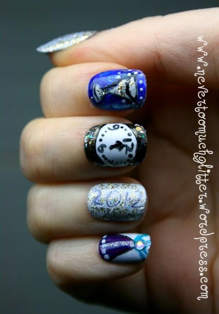 New Year's Nail Art Ideas... Goodbye 2012, Hello 2013!