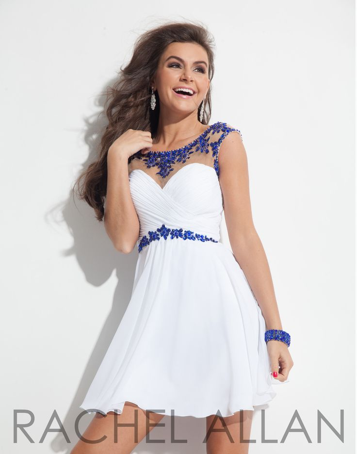 Rachel Allan 6635 White Royal Homecoming Dress at Rsvp Prom and Pageant, Atlanta, GA