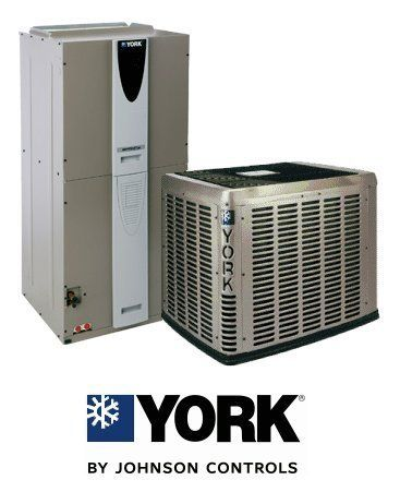 4 Ton 15 Seer York Air Conditioning System - CZE04811 - AVG48D3XH21 - S11TVM4J1 by York. $3489.00. 2 Stage Air Conditioner with Variable Speed Blower (R-410A) - Cooling Only split air conditioning system. Includes condenser and air handler. Not a heat pump. Supplimental electric heat strips can be added to air handler to provide electric heat (sold seperately).