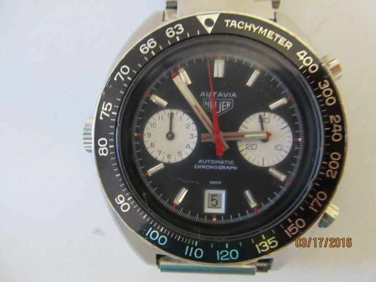 VINTAGE 1970s TAG HEUER AUTAVIA AUTOMATIC CAL. 12 CHRONOGRAPH WATCH FOR MEN