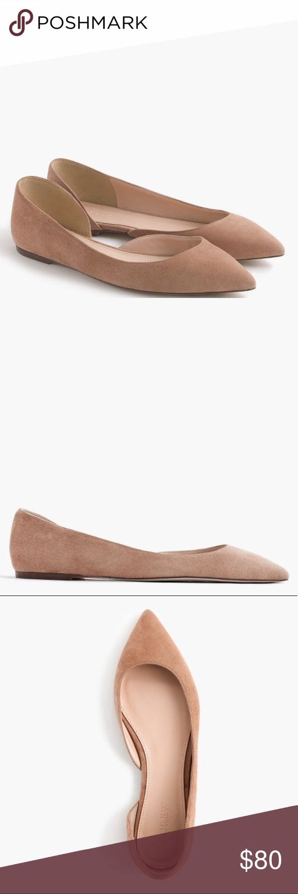 J. Crew Audrey Flat in Suede NIB J. Crew Audrey Flat in Suede.  Size 5 in Ashen, beautiful taupe color that goes with everything.  This is definitely an everyday shoe!  Brand new and in perfect condition.  These run a little large and would best for a 5.5 or 6. J. Crew Shoes Flats & Loafers