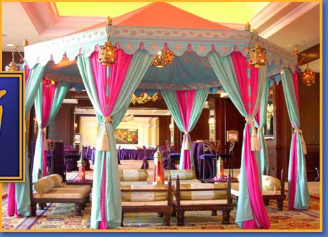 colorful party tent