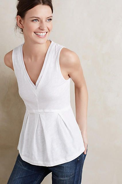 Like the Peplum top - white goes with everything