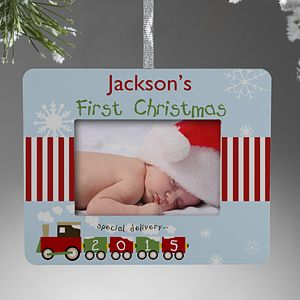 Personalize your Christmas tree with this decorative First Christmas Personalized Mini-Frame Ornament. Find the best personalized Christmas ornaments at PersonalizationMall.com
