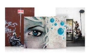 Groupon - Famous Street Art on Gallery-Wrapped Canvas in [missing {{location}} value]. Groupon deal price: $49.99