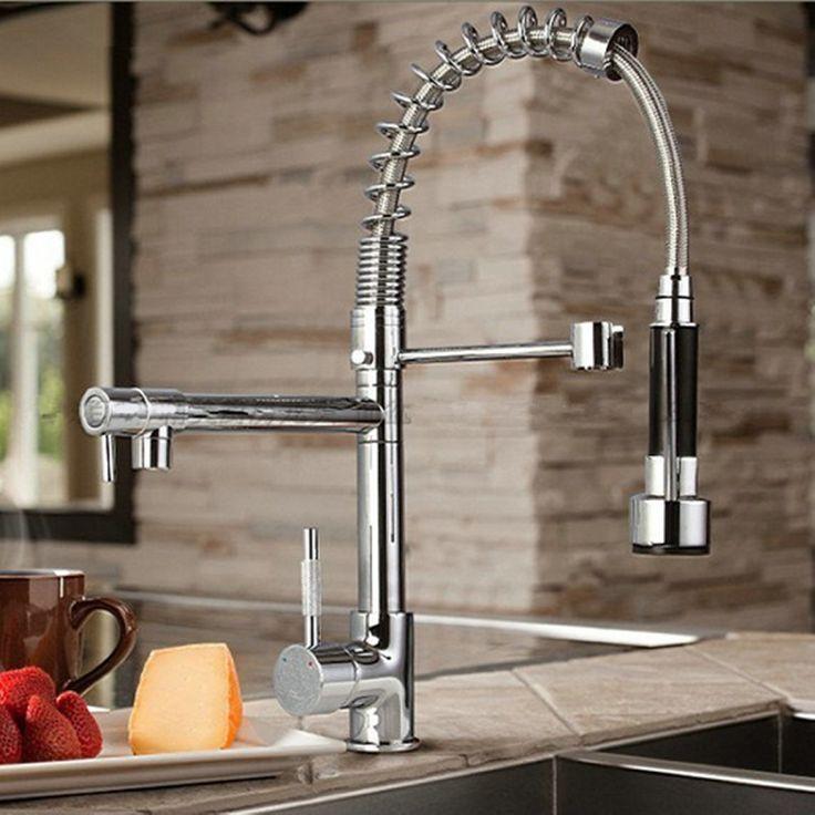 byb chrome modern designer single handle pull out spray pre rinse spring kitchen kitchen sink tapskitchen hardwarekitchen. Interior Design Ideas. Home Design Ideas