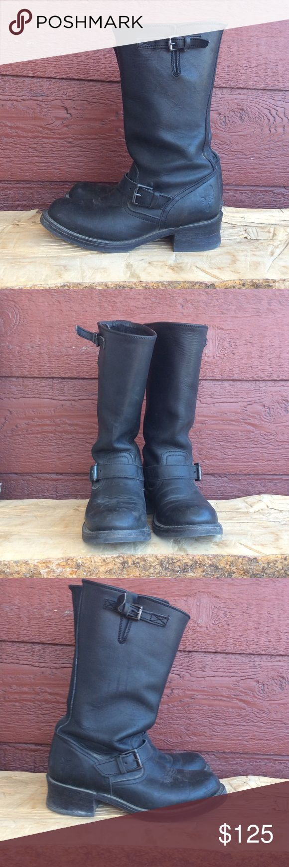 Black Frye Engineer Black free engineer boots in great condition. Only worn a couple times. Frye Shoes Combat & Moto Boots