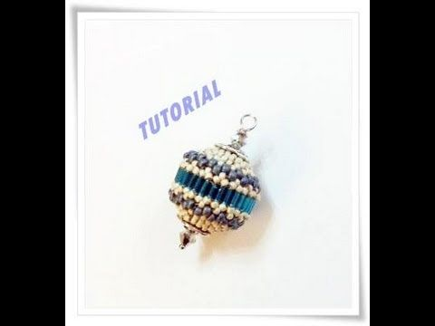 Tutorial DIY come rivestire una sfera con perline, beaded bead tutorial