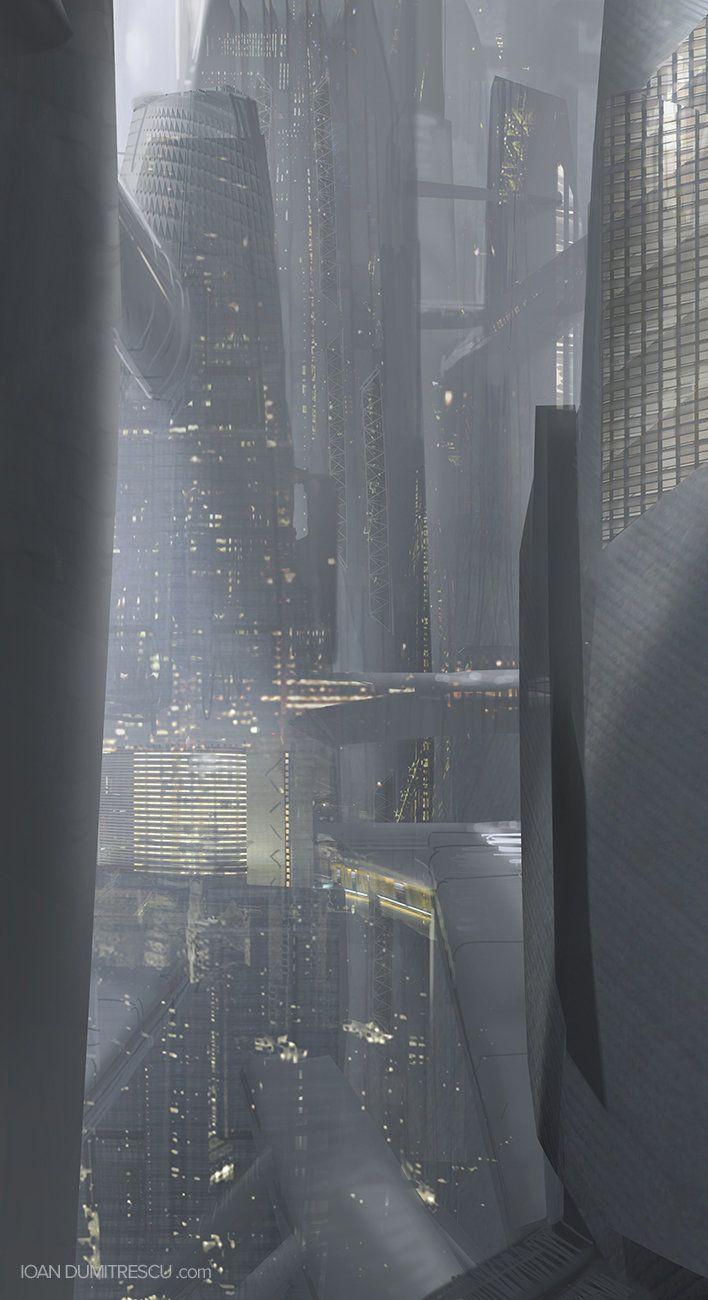 Amazing concept art of a futuristic city by Ioan Dumitrescu via http://www.ioandumitrescu.com