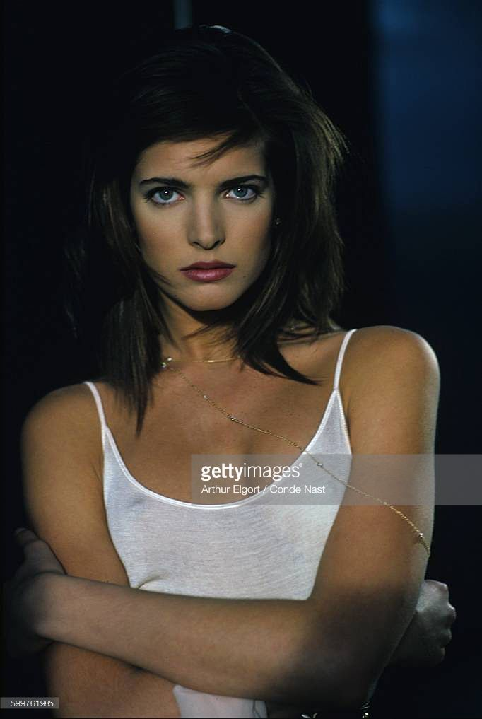 News Photo : Model Stephanie Seymour sporting coif by Sergio...