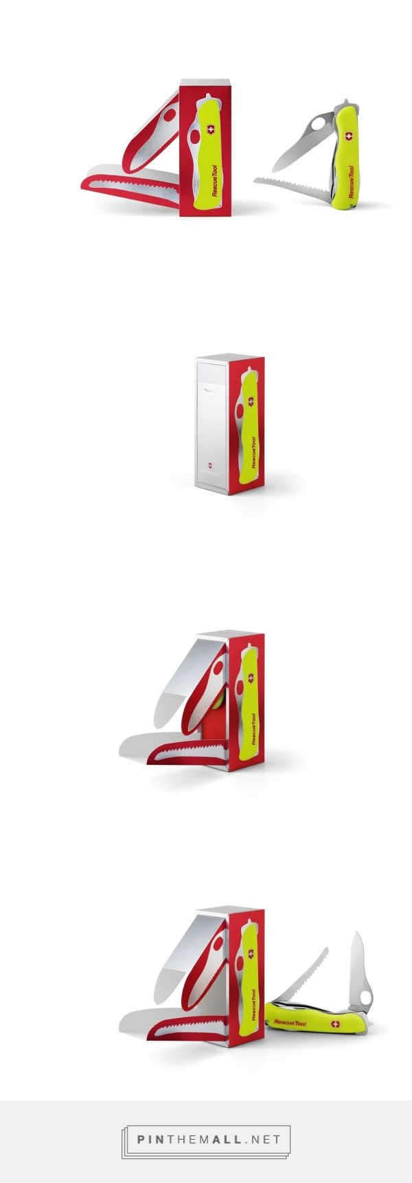 Am I seeing double? Victorinox Rescue Tool packaging design by MetsaBoard - http://www.packagingoftheworld.com/2016/06/victorinox-rescue-tool.html