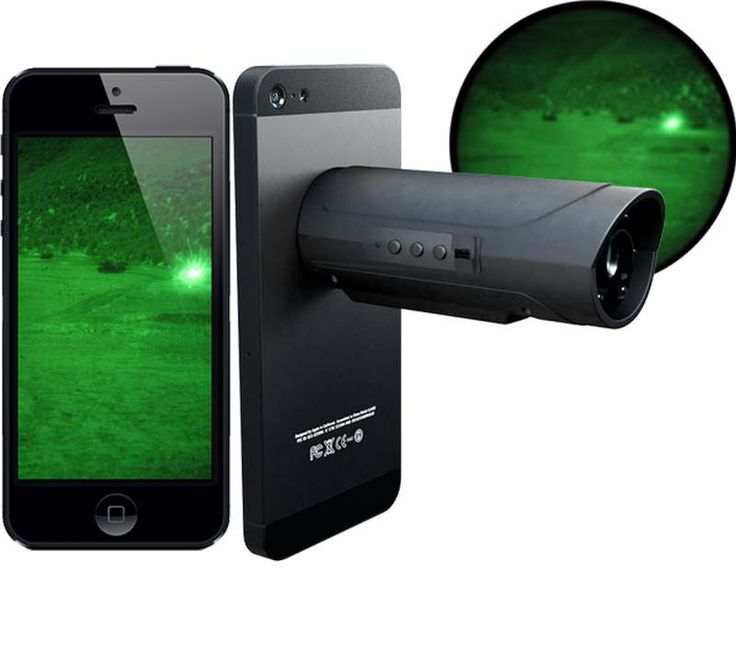 Snooperscope night vision device for your smartphone and tablet, uses infrared light to see night scenes on the phone's screen.Snooperscope gives your mobile device the ability to see and capture the world in complete darkness, while revealing items not visible to