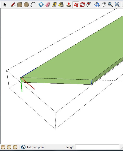 how to make angles in google sketchup