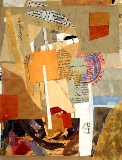 Kurt Schwitters created collages with found objects and then worked into them. create collage and then make a painting from it- add figural eelement