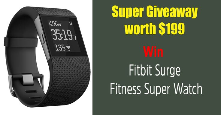 Win Fitbit Sugre (worth $199) & a good health.