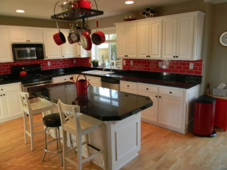 Amazing Black And Red Kitchen Decor 17 In 2020 Red Kitchen Decor