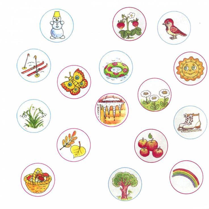Thema seizoenen met kleuters no 2, free printable