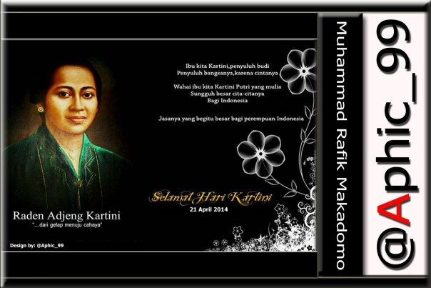 Every April 21, we commemorate Kartini Day to honor, respect, and considering the great services for Indonesia, especially for women Indonesia.Berikut brief biographical review.   Raden Kartini was born on April 21, 1879 in the city...
