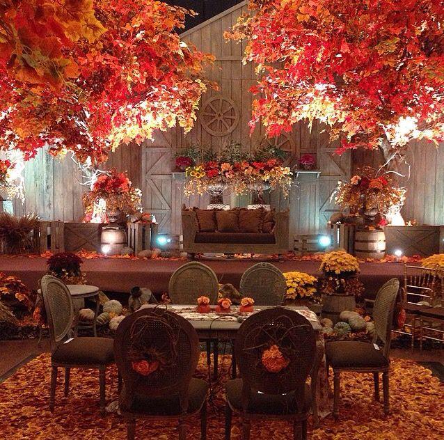 Autumn theme decoration for akad nikah