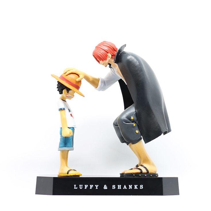 One Piece Luffy & Shanks PVC Figurine