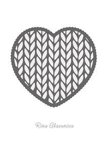 Knit Heart on Craftsuprint - View Now!