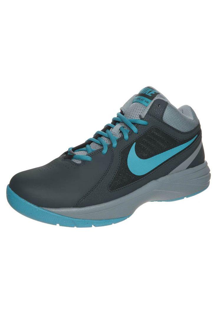 Nike Performance THE OVERPLAY VIII - Basketbalschoenen - classic charcoal/light blue/dive grey - Zalando.nl