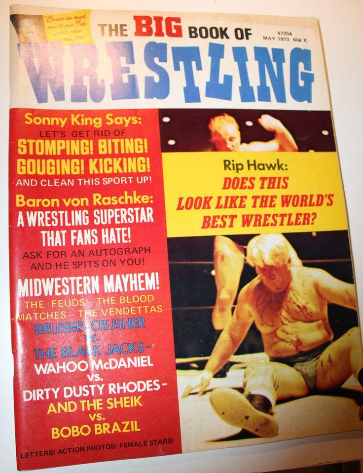 1973 Big Book of Wrestling Magazine May Dusty Rhodes Wahoo McDaniel Sheik Bobo