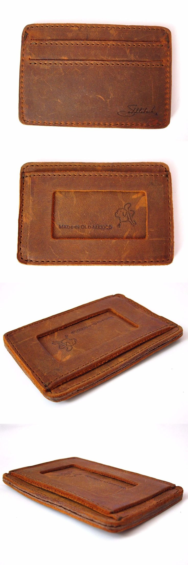 Wallets 2996: Saddleback Leather Script Logo Front Pocket Id Wallet Tobacco Vegetable Tanned -> BUY IT NOW ONLY: $99.99 on eBay!