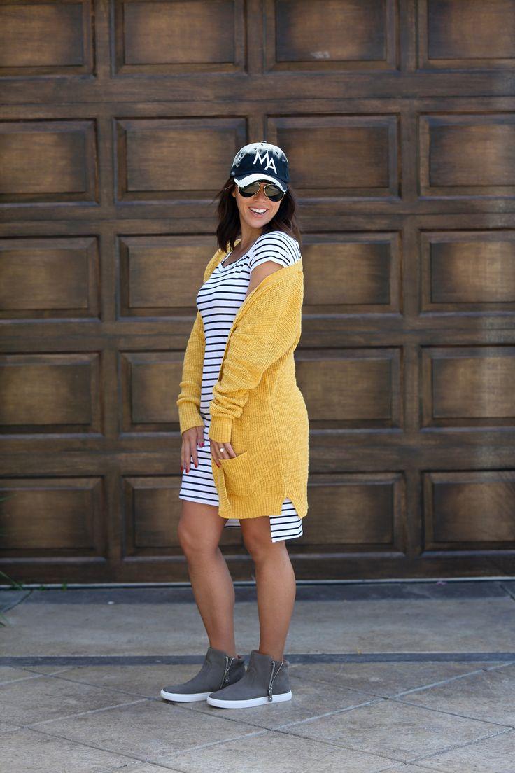 ON SALE - Striped Bardot Dress