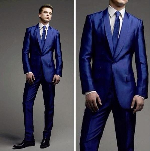 True Blue Mens Suit | My Dress Tip