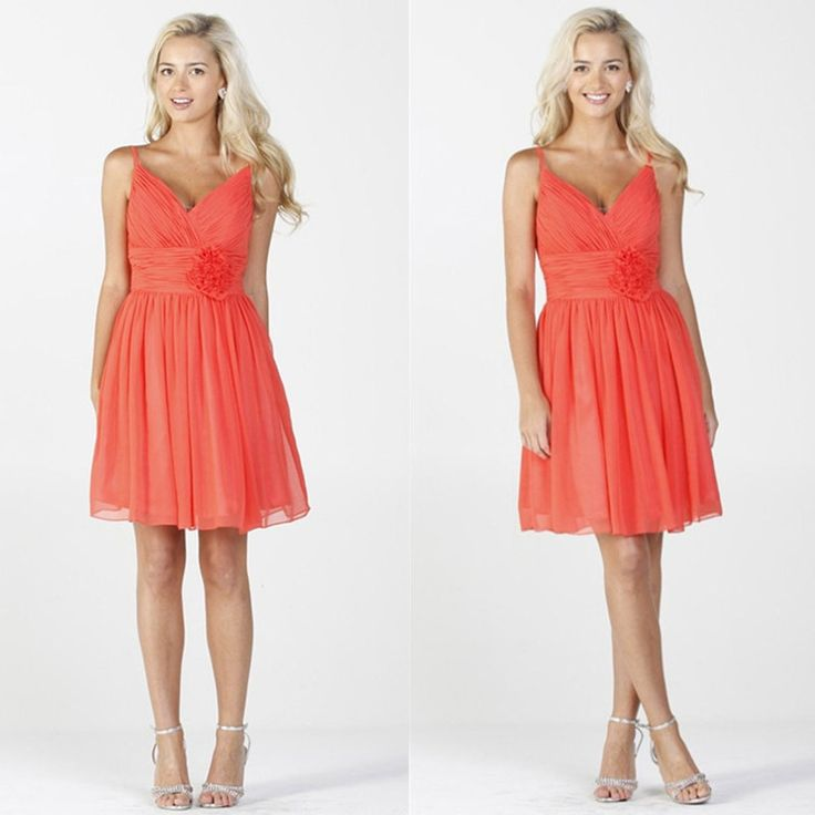 Cheap dress fringe, Buy Quality dress duster directly from China dress up casual dress Suppliers:   New Arrival 2014 Mini Dresses Pleat Backless Shoulders V-Neck Flowers Bridesmaid Dresses Short Coral Bridesmaid Dresse