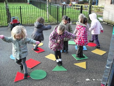 A fun way to encourage shape recognition and movement