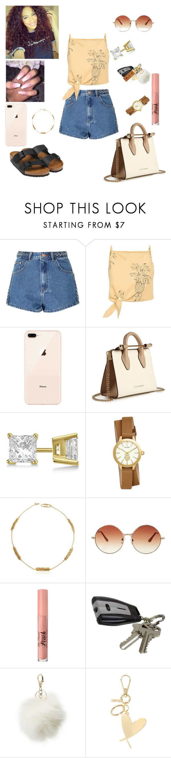 """#Mall Run 😍💸"" by prxncessm ❤ liked on Polyvore featuring Glamorous, Birkenstock, Strathberry, Allurez, Tory Burch, Aurélie Bidermann, Topshop, Too Faced Cosmetics, Charlotte Russe and Victoria's Secret"