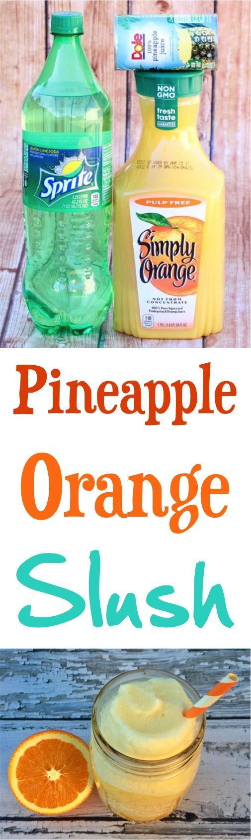Slush Recipe!  This Pineapple Orange Beverage will satisfy those slush cravings!   NeverEndingJourneys.com