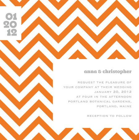 Chevron Invitations by Up Up Creative