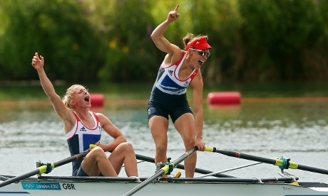 a second rowing Gold for Great Britain as Katherine Copeland and Sophie Hosking win the Lightweight Women's Double Sculls Final.