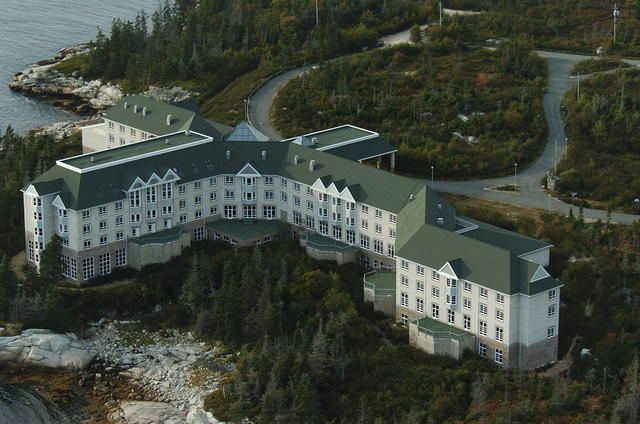 Abandoned Resort - Aspotogan Sea Spa Nova Scotia - construction began in 1993 but the project was abandoned in 1994.