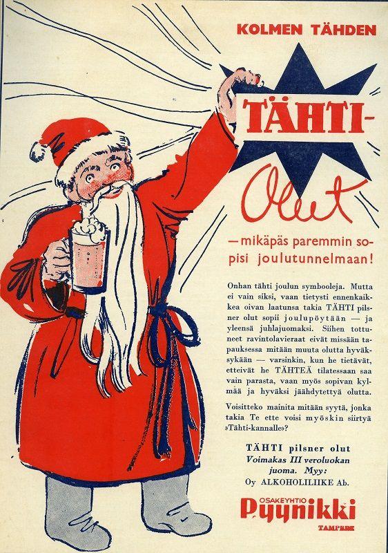 Tähti-olut #joulu #mainokset #pyynikki #olut #christmas