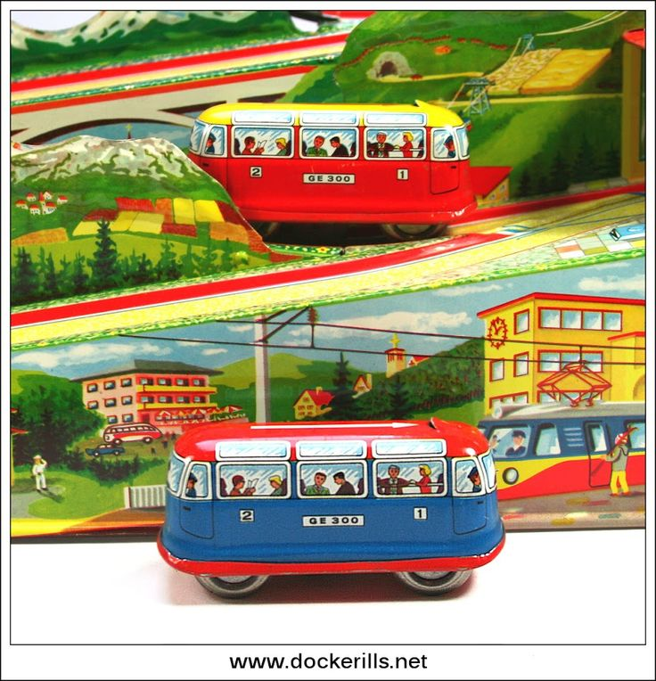 Alpine Express 300, TECHNOFIX, West Germany (Picture 2 of 4). Vintage Tin Litho Tin Plate Toy. Wind-Up / Clockwork Mechanism. The vehicles are fitted with the Technofix mechanism which only engages with the uphill perforated section of track conserving the clockwork power and enabling many more circuits than would normally be possible. Photo in DOCKERILLS - TIN TOY REFERENCE - EUROPE - Google Photos