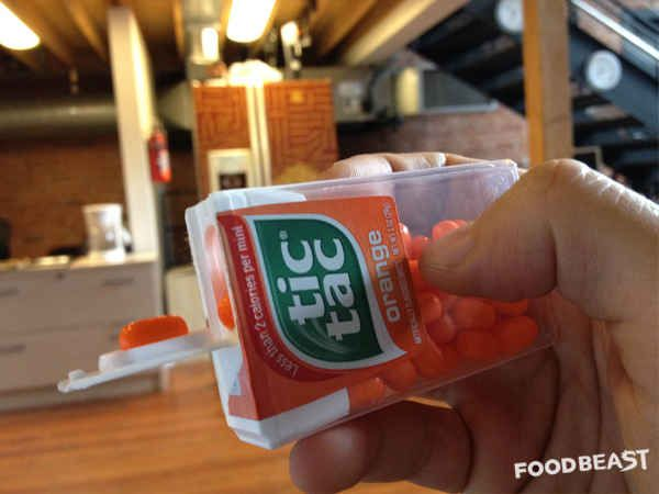 You've been dispensing Tic Tacs the hard way.