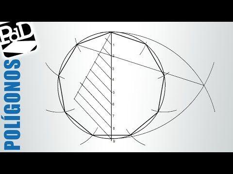 Construcción de polígonos inscritos en circunferencia, método general (eneágono o nonágono). Repetido - YouTube
