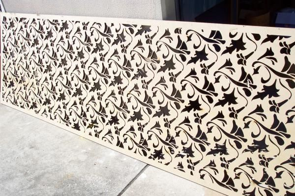 Organic Pattern For Laser Cut Screen House For Lq And Gh