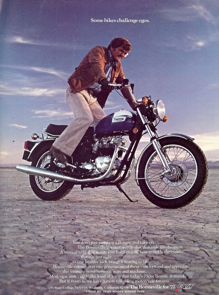 Exceptional Motorcycle Ads #4: Bit Deep From 1977 Triumph Ad Men